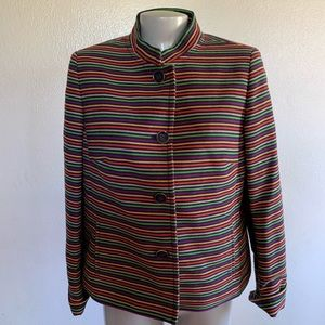 Talbots colorful striped blazer